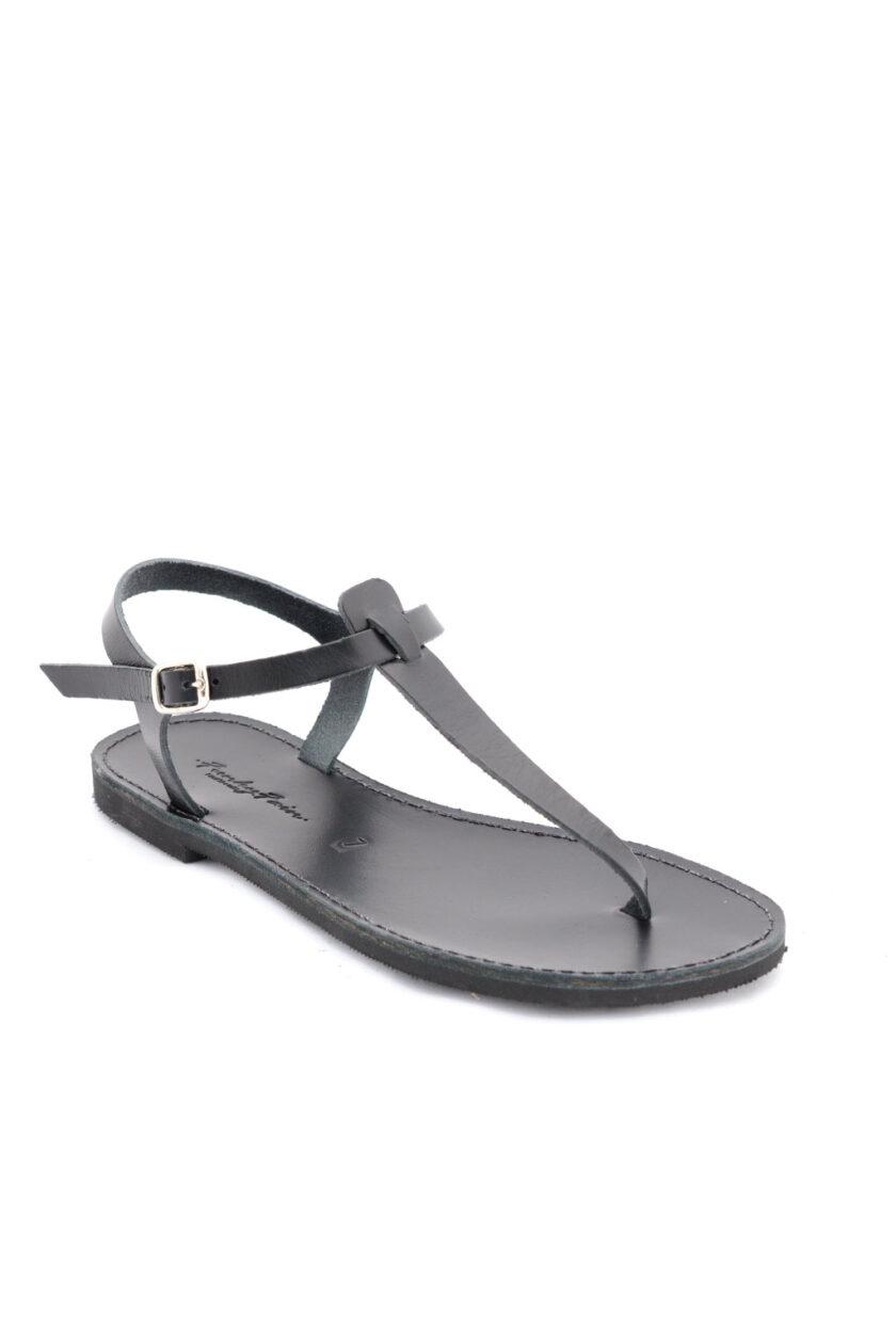 FUNKY ALLNUDE genuine leather low-heeled sandals, black