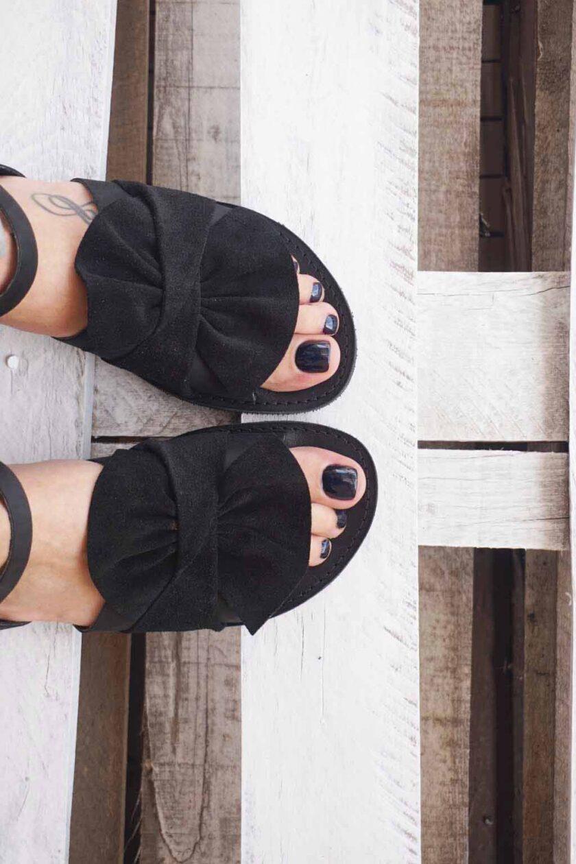 FUNKY B genuine leather women's sandals, black