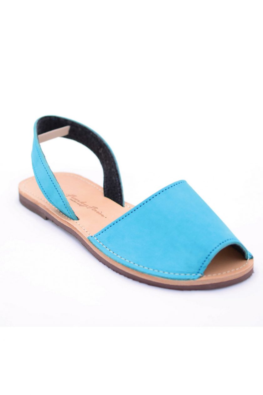 Sandale grecesti piele naturala FUNKY Q, turqoise