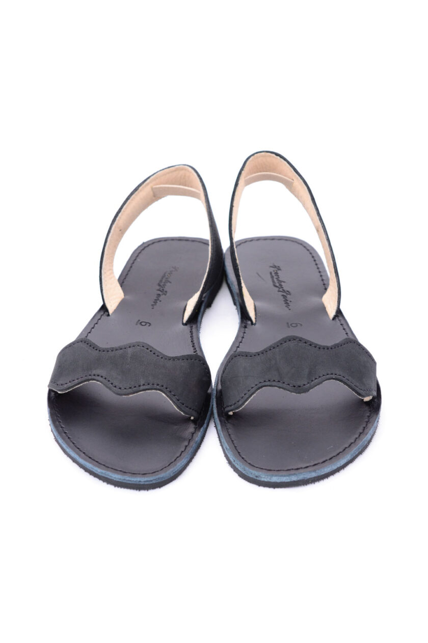 FUNKY VIBE women's genuine leather sandals, black