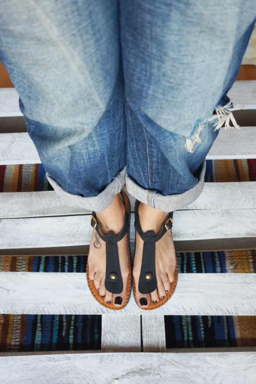 Anatomical sandals FUNKY COMFY, black