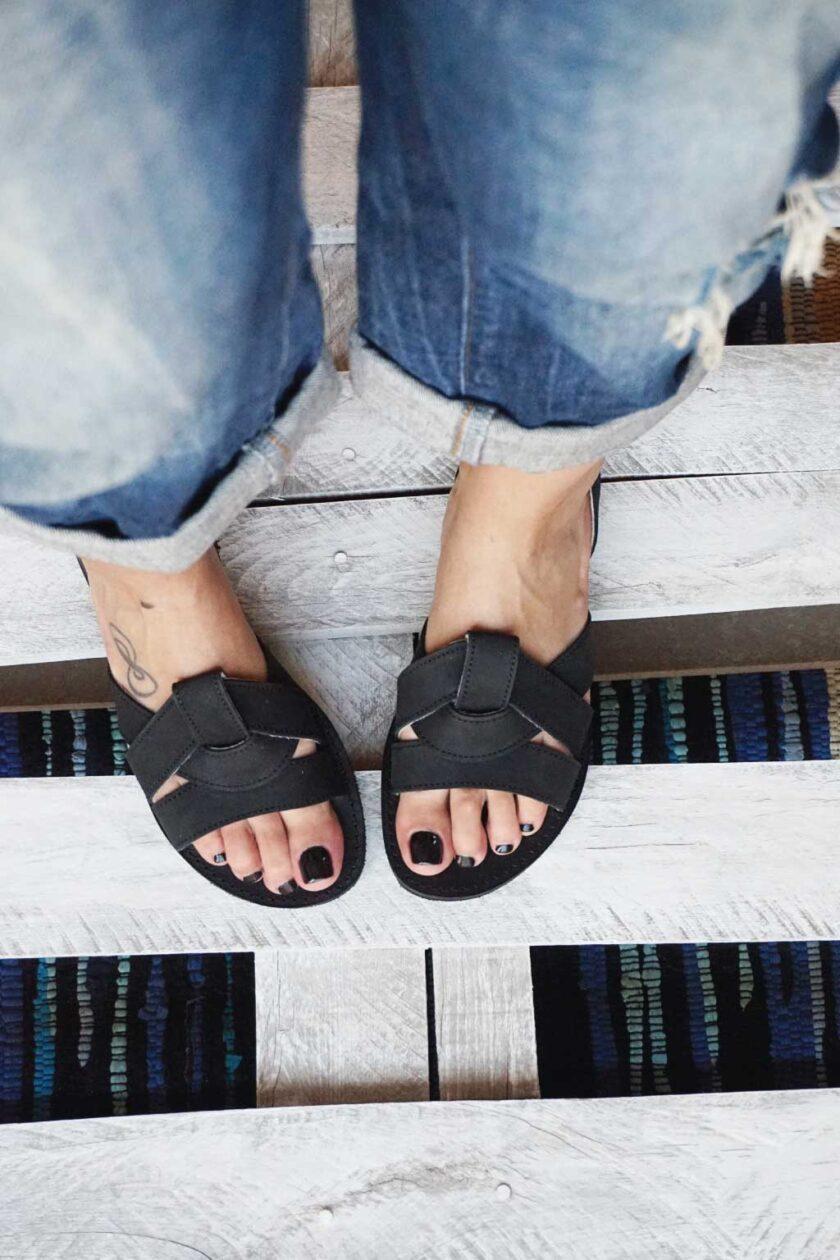 FUNKY CITY women's sandals, black