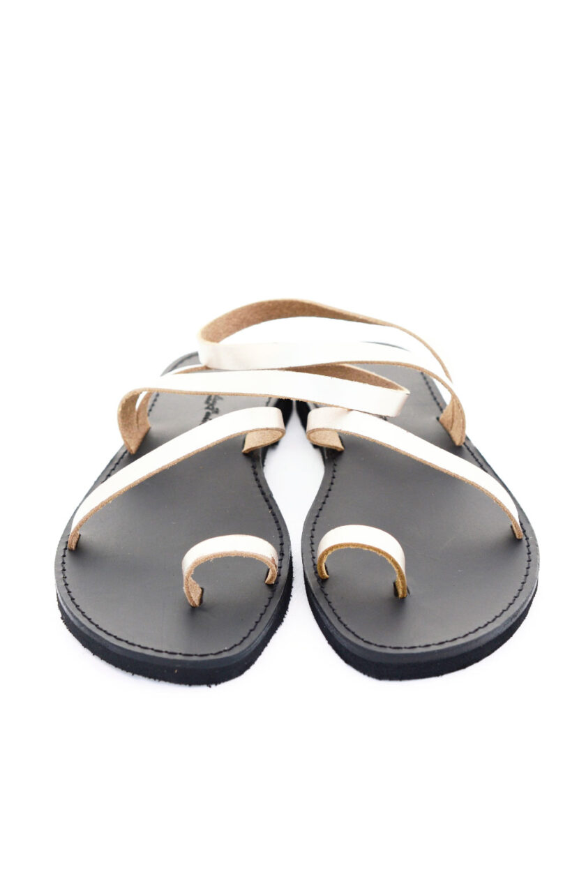 FUNKY DAY low-heeled sandals, metallic gray