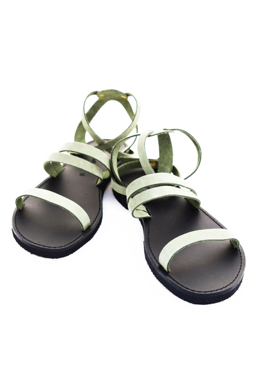 FUNKY GLAM natural leather sandals, green
