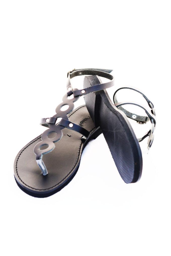 FUNKY SOCIAL genuine leather women's sandals, black