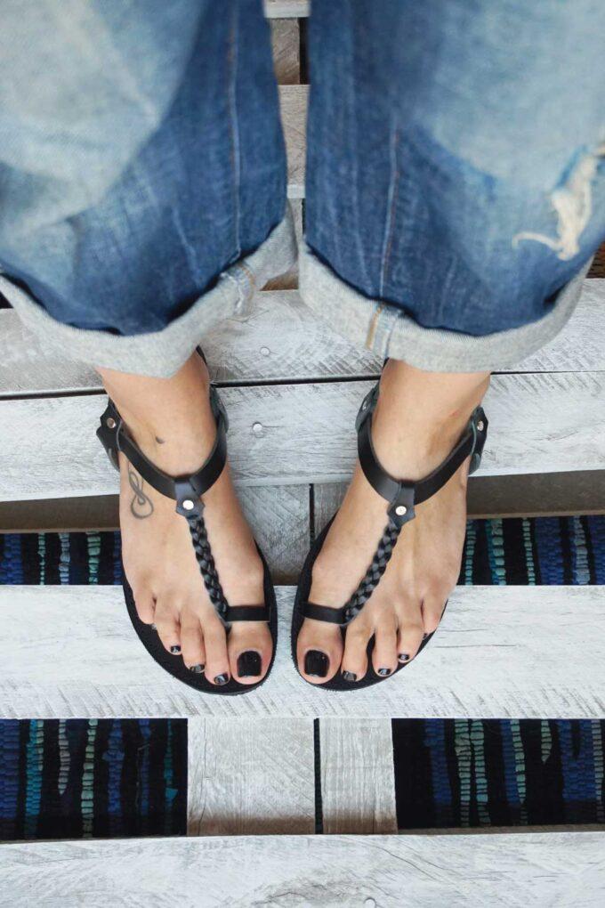 Greek sandals FUNKY LOOKS, black