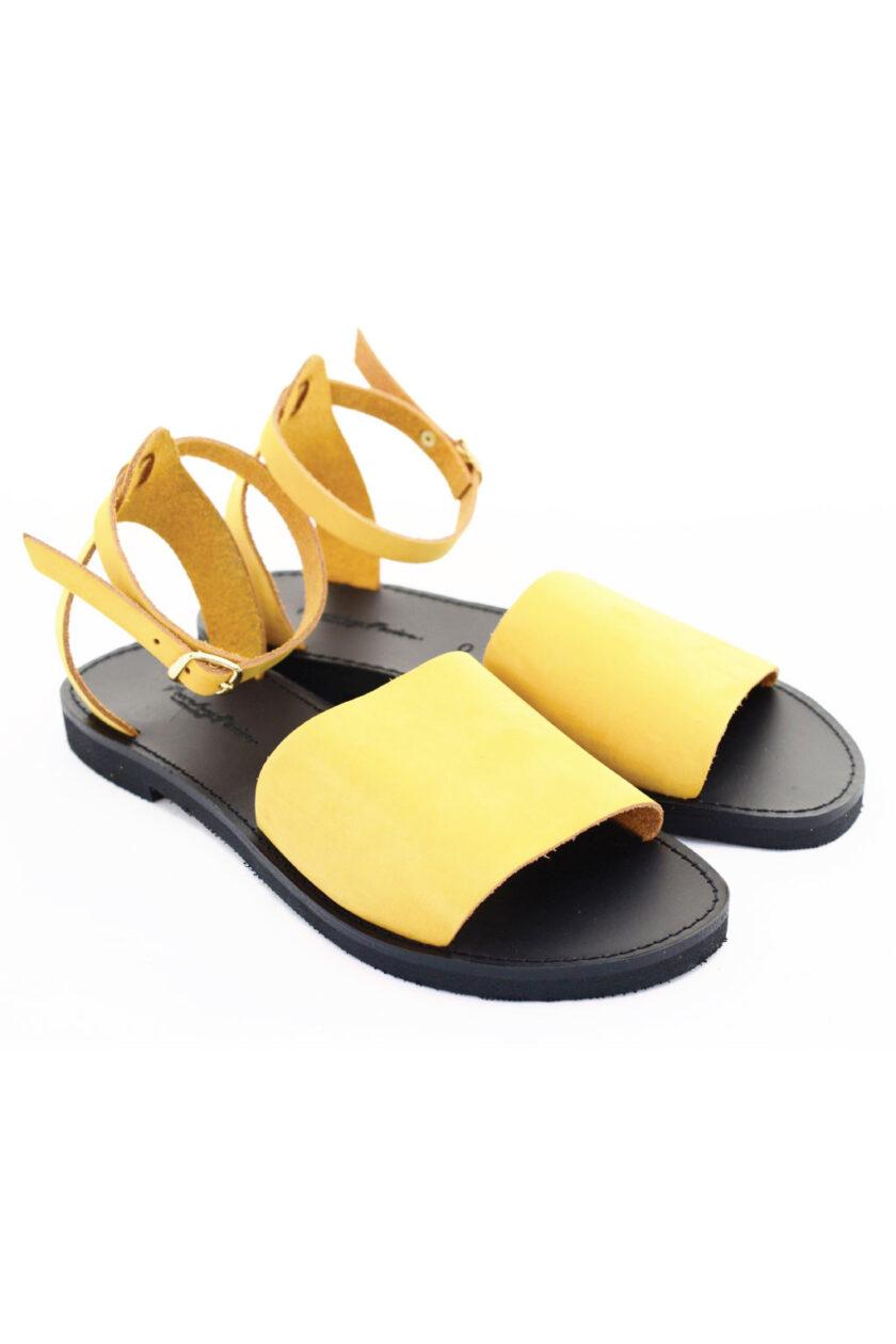 Women's sandals FUNKY WOMAN, yellow - mustard
