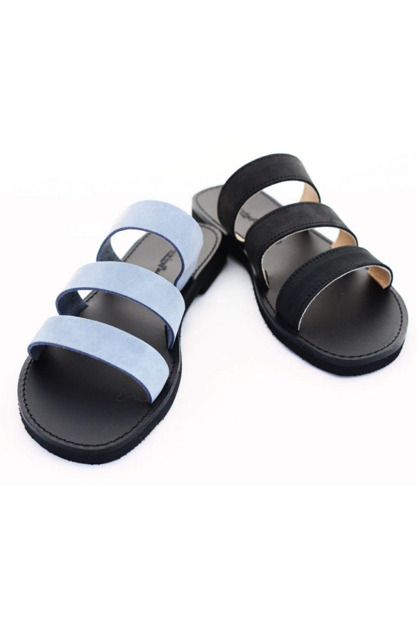 Papuci piele naturală FUNKY MOOD