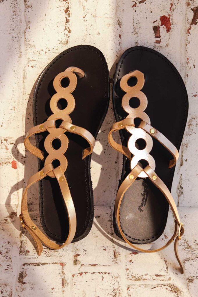 FUNKY SOCIAL women's sandals, metallic gray