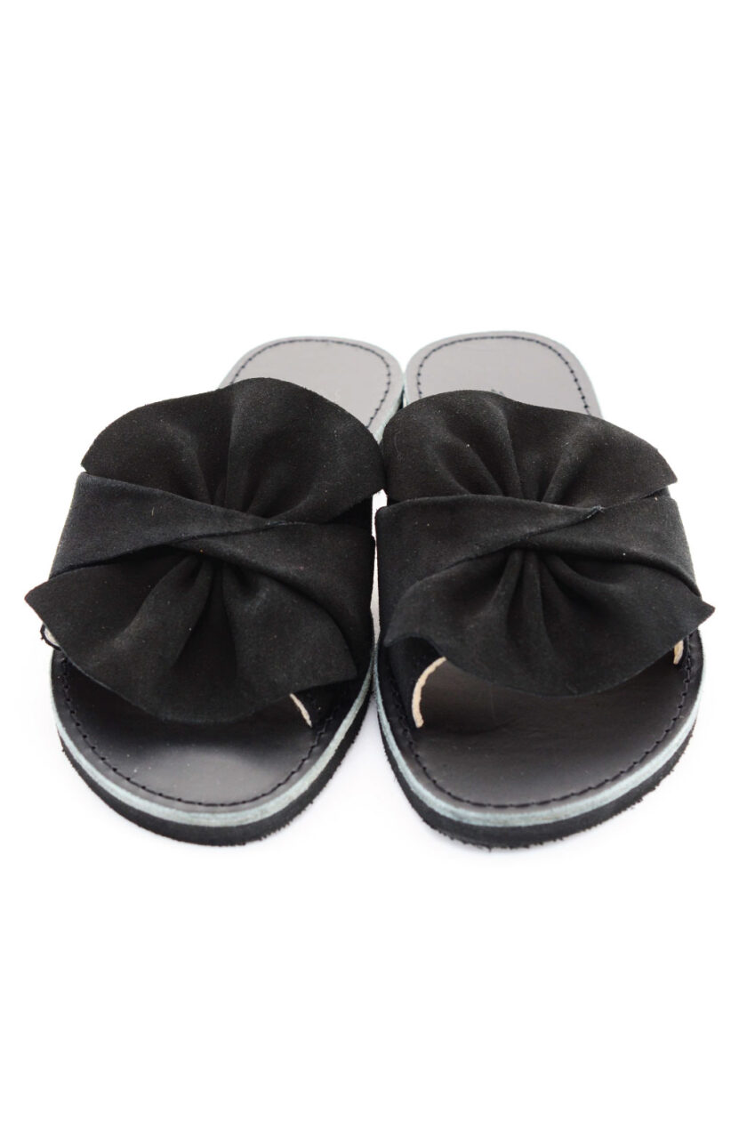 FUNKY INSTYLE women's genuine leather slippers, black