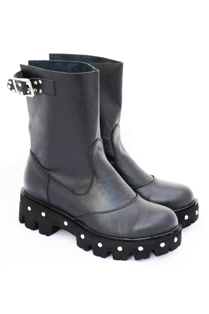 Biker boots with FUNKY URBAN targets, black