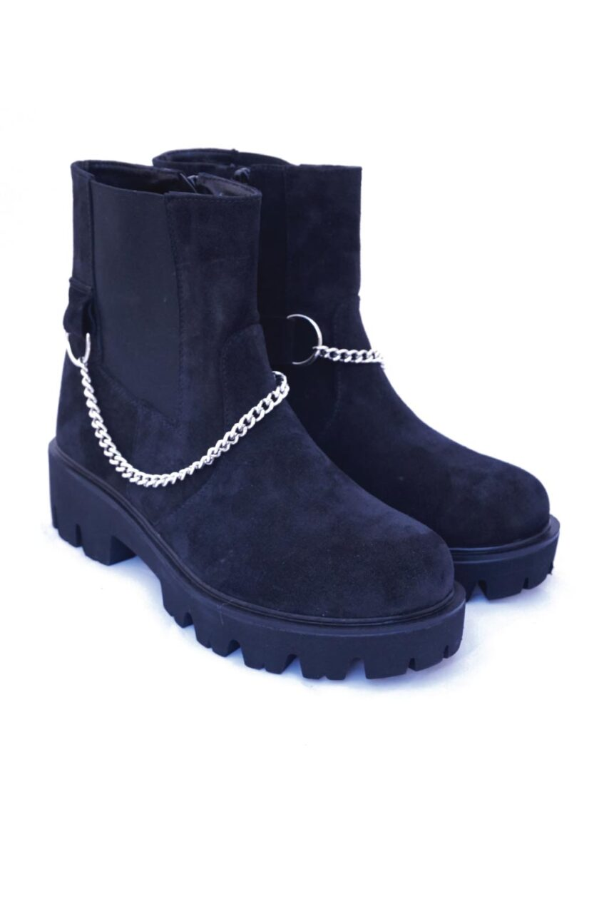 Black suede boots FUNKY PUNK