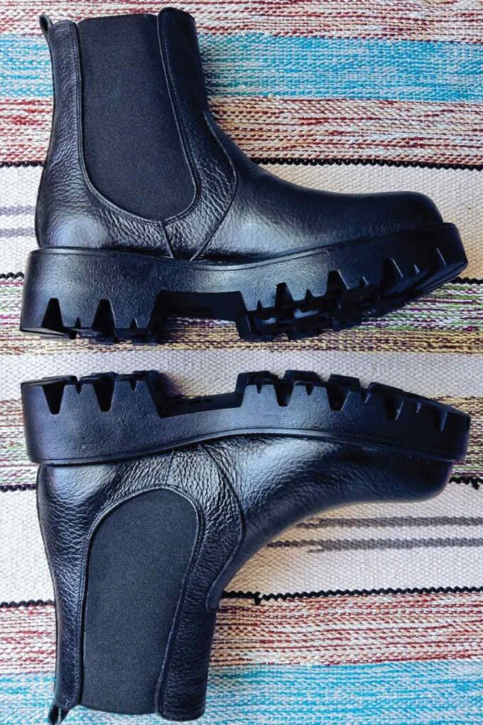 FUNKY BOOTS genuine leather high boots, black