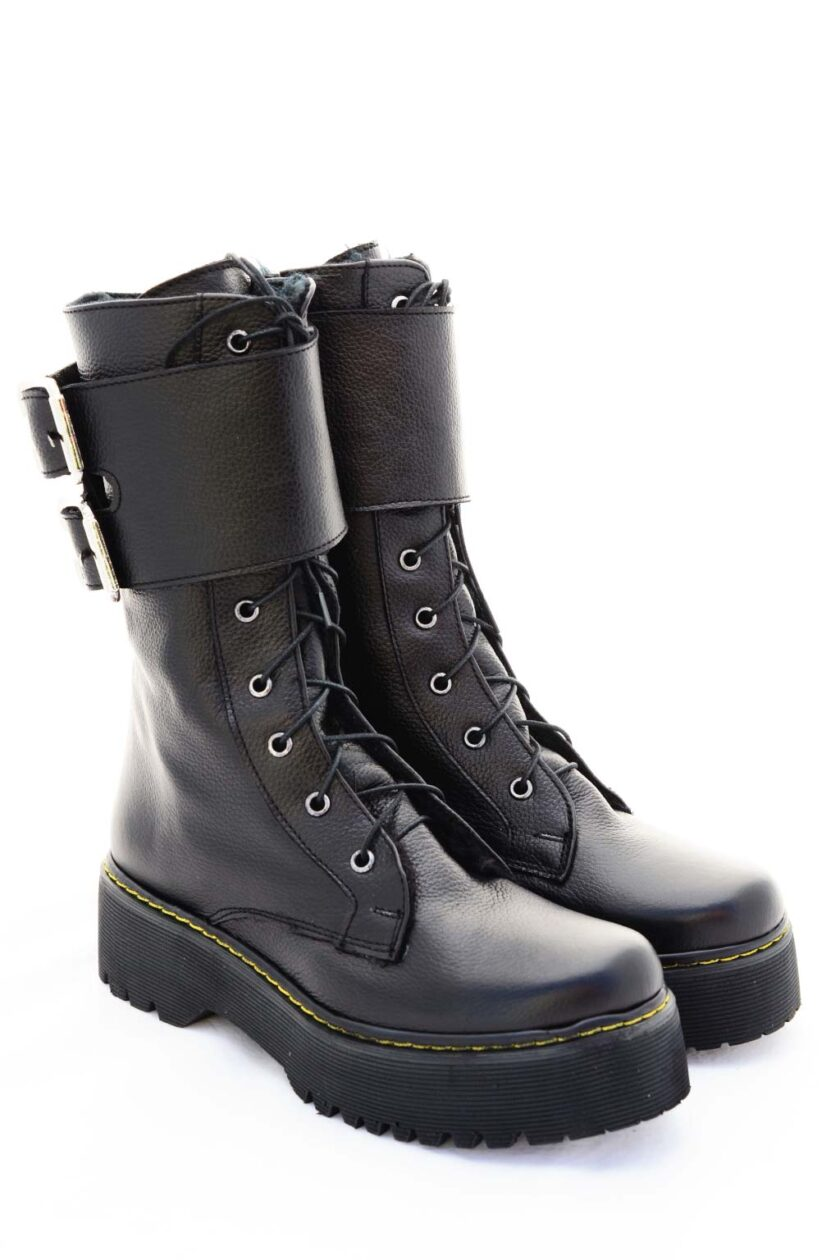 FUNKY CHOICE genuine leather boots, black