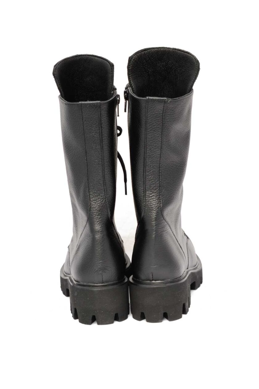 FUNKY HIGH ROCK genuine leather boots, black