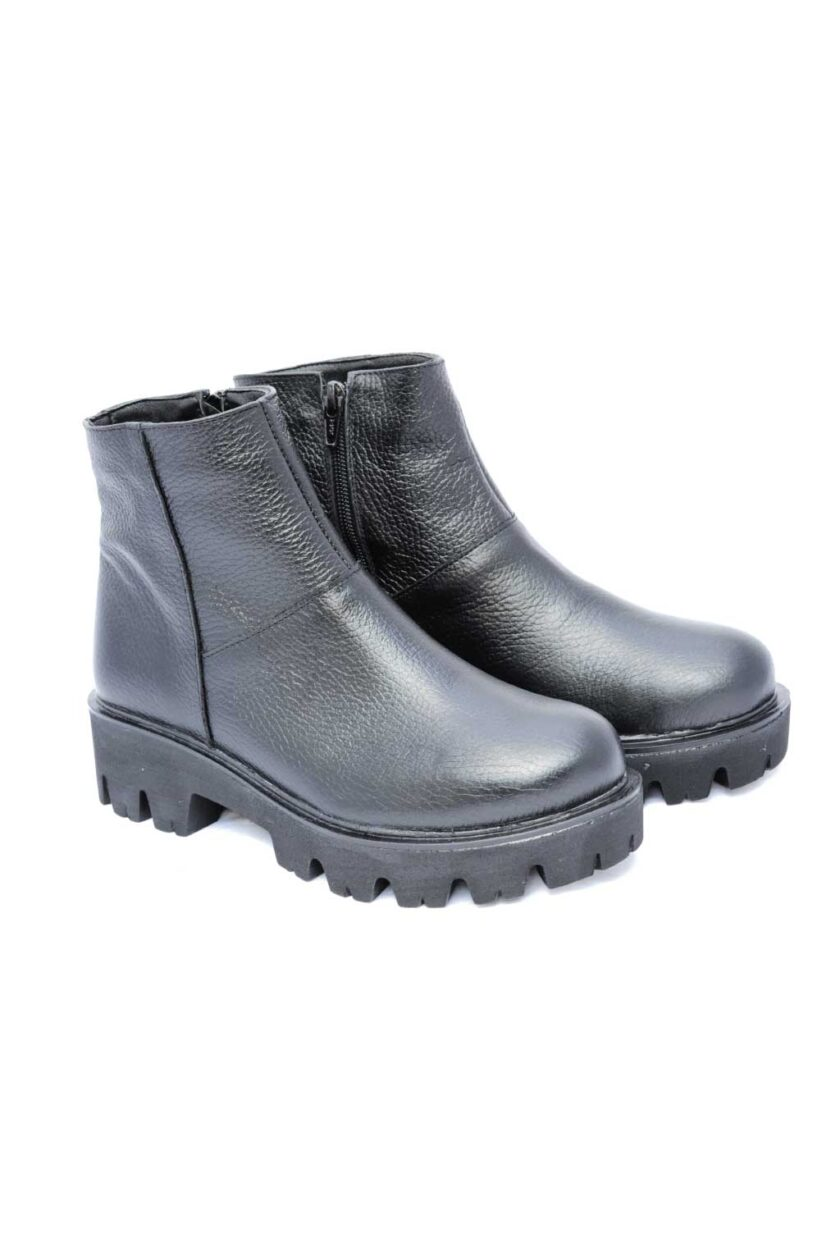 FUNKY MINIMAL genuine leather women's boots, black