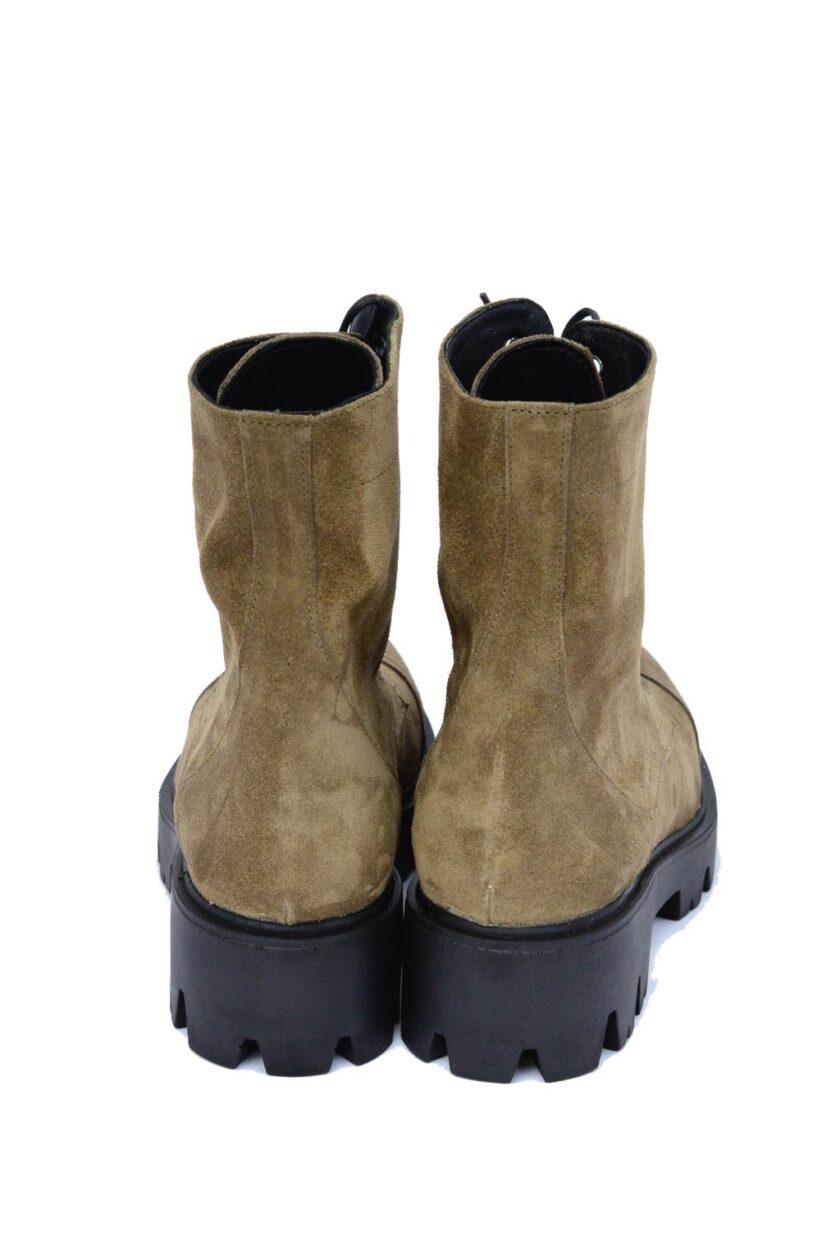 FUNKY ROCK genuine leather women's boots, khaki