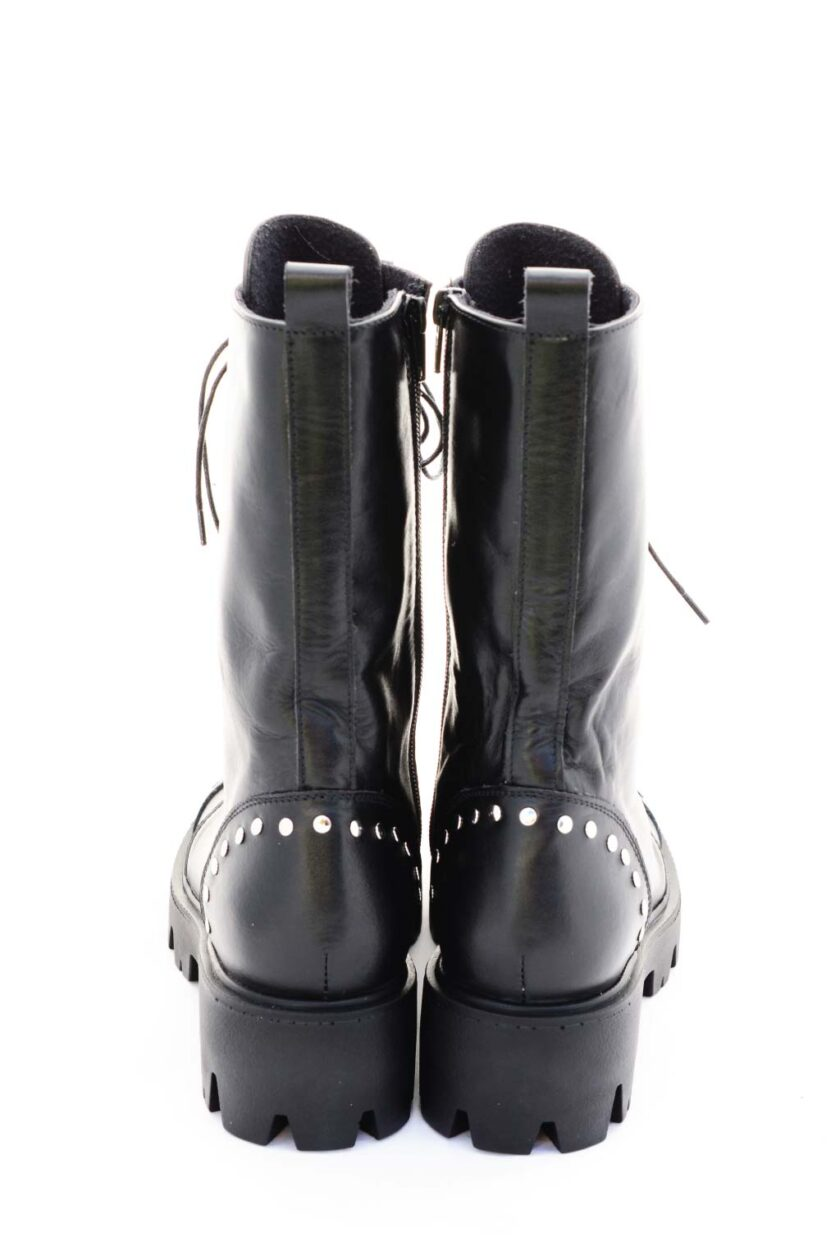 Natural leather boots with FUNKY ELECTRIC targets, black