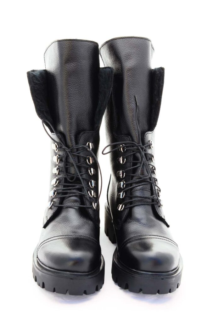 Women's FUNKY FAB genuine leather boots, black