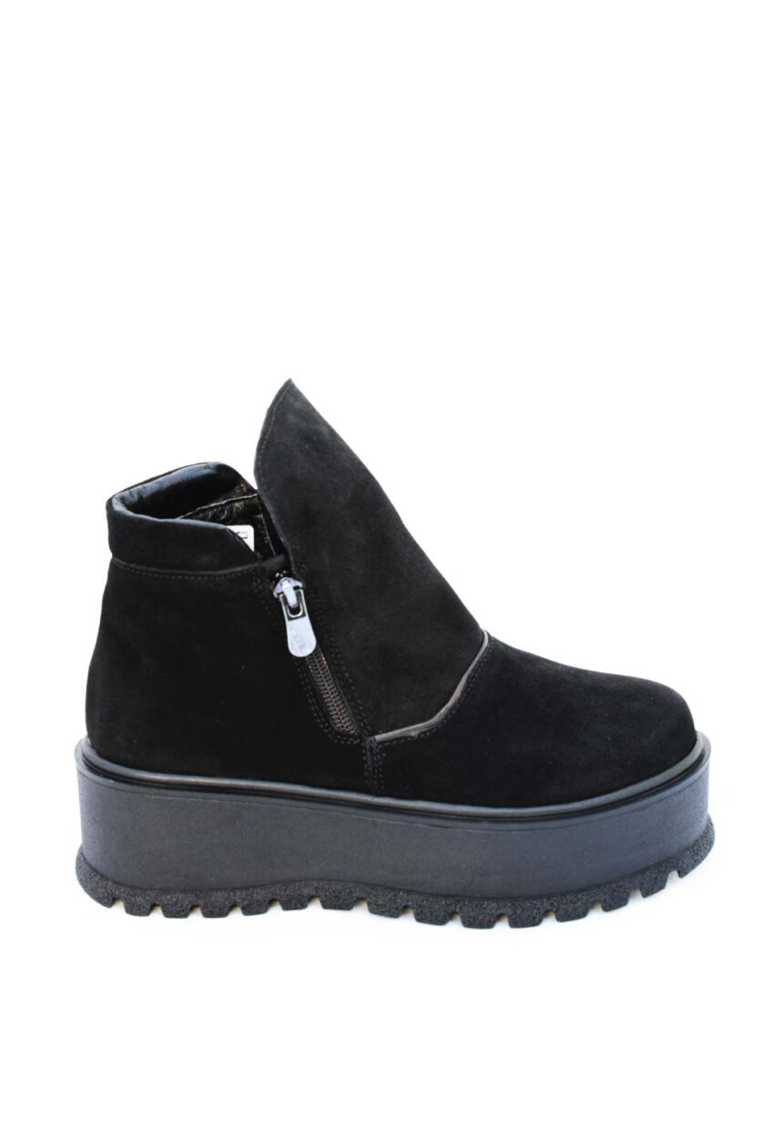 Women's boots with FUNKY SOUL platform, black