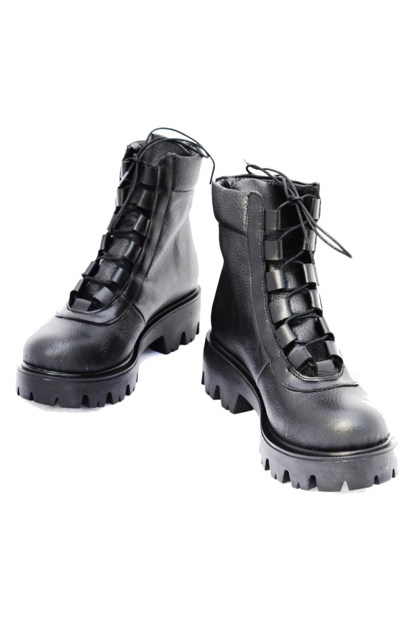 Women's boots with laces FUNKY SMART, black